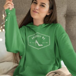Uniquely Me High Heel Pull Over Hoodie